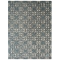 Safavieh Handmade Moroccan Chatham Majestic Light Blue/ Ivory Wool Rug (6' x 9')