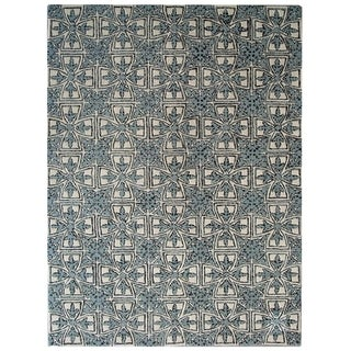 Safavieh Handmade Moroccan Chatham Majestic Light Blue/ Ivory Wool Rug (8' x 10')