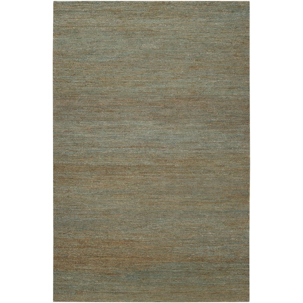 Hand-woven Oak Green Natural Fiber Hemp Rug (2' x 3')