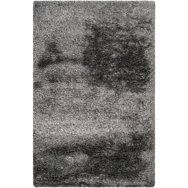 Hand-woven Oakdale Grey Luxurious Shag Rug (2' x 3')