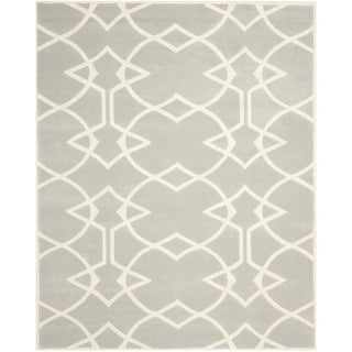 Handmade Marrakesh Grey New Zealand Wool Rug (4' x 6')