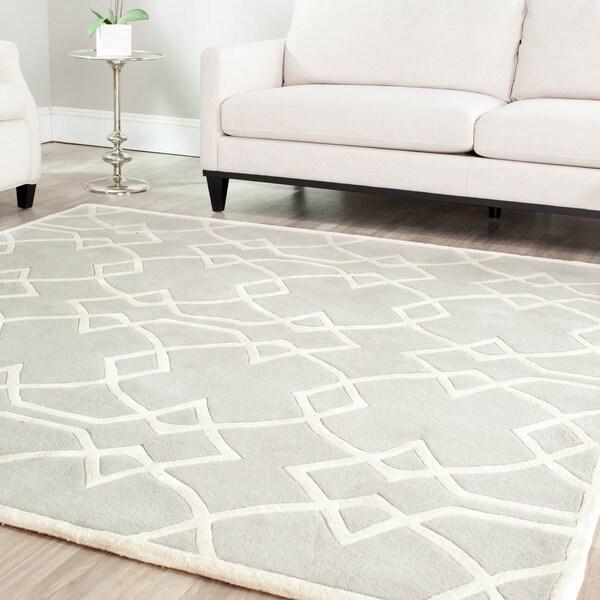 Safavieh Handmade Marrakesh Grey New Zealand Wool Rug (4' x 6')
