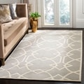 Handmade Marrakesh Grey New Zealand Wool Rug (6' x 9')