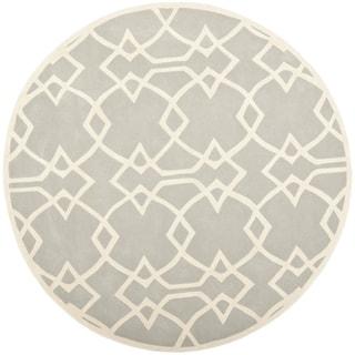 Safavieh Handmade Marrakesh Grey New Zealand Wool Rug (7' Round)