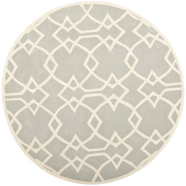 Safavieh Handmade Marrakesh Grey New Zealand Wool Rug (7' Round)