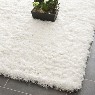 Handmade Malibu White Shag Rug (8' 6 x 12')