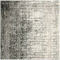 Safavieh Retro Black and Light Grey Rug (6' Square)