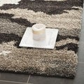 Ultimate Beige/ Brown Shag Rug (6'7 Square)