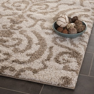 Ultimate Cream/ Beige Shag Rug (11' x 15')