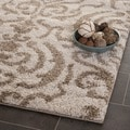 Ultimate Cream/ Beige Shag Rug (2'3 x 11')