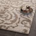 Ultimate Cream/ Beige Shag Rug (5' Square)