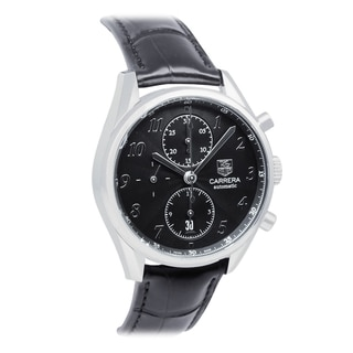 Tag Heuer Men's Carrera Leather-strap Watch