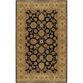 Hand-tufted Palo Black Wool Rug (2' x 3')