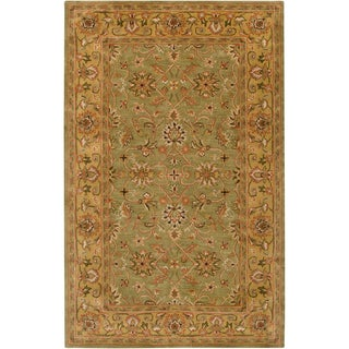 Hand-tufted Pambula Green Wool Rug (2' x 3')