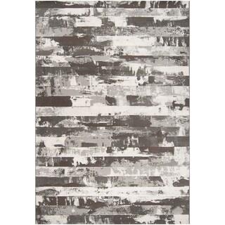 Paramount Grey Abstract Rug (2' x 3')