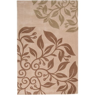 Hand-tufted Plentywood Beige Rug (2' x 3')