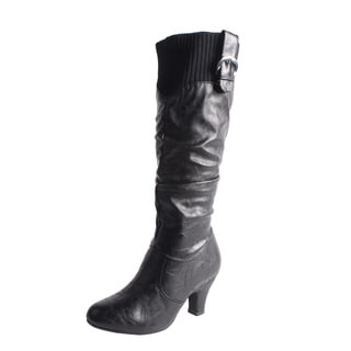 Blossom by Beston Women's 'Brand-20' Black Knee-High Boots