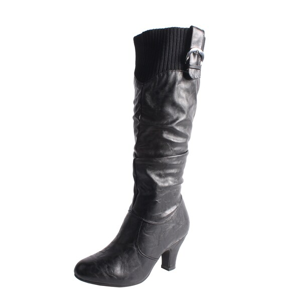 Blossom by Beston Women's 'Brand-20' Black Knee-High Boots