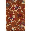 Hand-Tufted Transitional Centennial Orange Wool Rug (2' x 3')