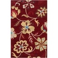 Hand-tufted Centennial Red Wool Rug (2' x 3')