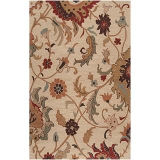 Hand-tufted Prairies Beige Wool Rug (2' x 3')