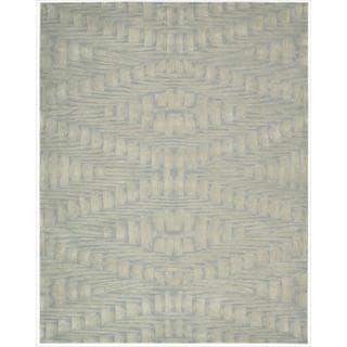Nourison Hand-tufted Moda Ivory Light Blue Breeze Rug (9'6 x 13'6)