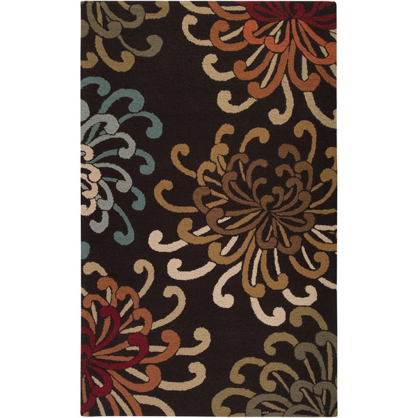 Hand-tufted Prosser Brown Wool Rug (2' x 3')