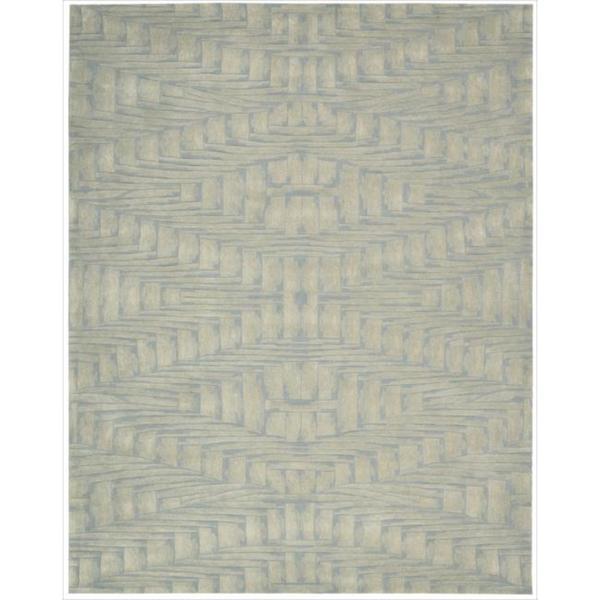 Nourison Hand-tufted Moda Ivory Light Blue Breeze Rug (8' x 11')