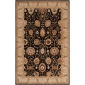 Hand-tufted Redford Black Wool Rug (2' x 3')