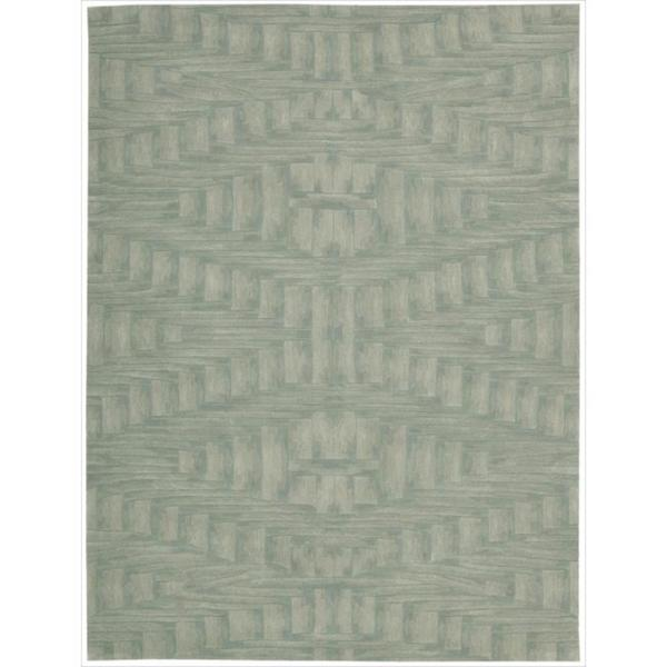 Nourison Hand-tufted Moda Ivory Light Blue Breeze Rug (5'8 x 6'9)