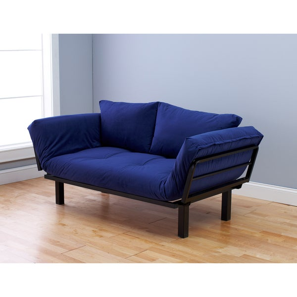 Somette Eli Spacely Black Metal and Posh Blue Multi-flex Daybed Lounger