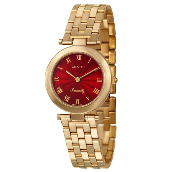 Zenith Women's 'Piccadilly' Yellow Goldplated Stainless Steel Swiss Quartz Watch