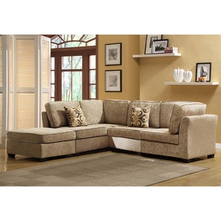 Tribecca Home Barnsley Collection Brown/ Beige Chenille 5-piece Sectional Set