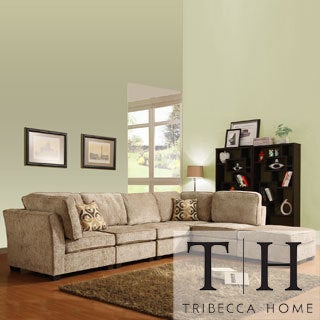 Barnsley Collection Brown/ Beige Chenille 6-piece Sectional Set