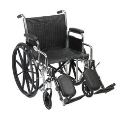 CS16DDA-ELR Chrome Sport Wheelchair with Various Arm Styles and Front Rigging Options