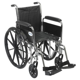 CS16DFA-SF Chrome Sport Wheelchair with Various Arm Styles and Front Rigging Options