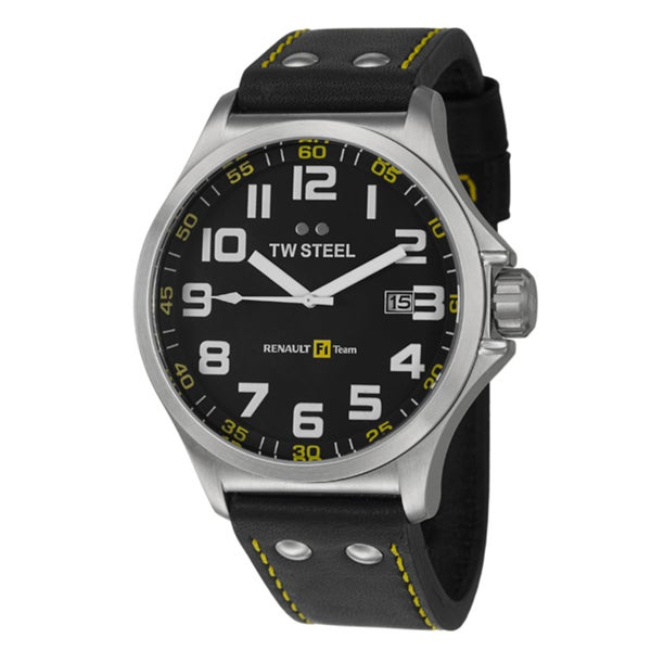 TW Steel Men's 'Renault F1 Team Pilot' Stainless Steel Quartz Watch