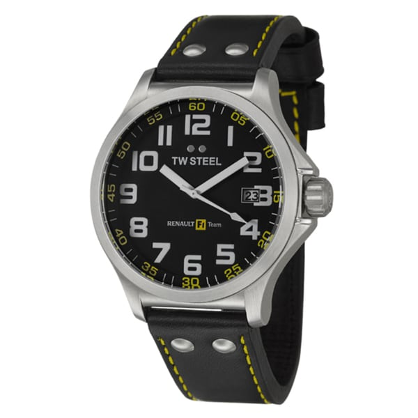 TW Steel Men's 'Renault F1 Team Pilot' Stainless Steel Quartz Watch