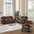 Coleford Collection Dark Brown Microfiber/ Vinyl 3-piece Living Room Set