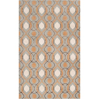 Candice Olson Hand-tufted Ripon Grey Moroccan Tile Pattern Wool Rug (2' x 3')