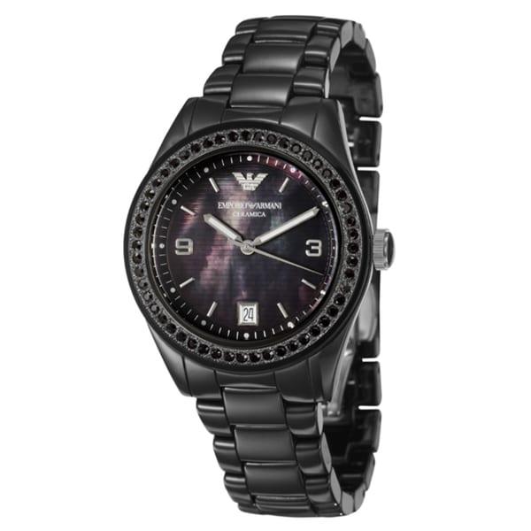 Emporio Armani Women's MOP 'Ceramica' Ceramic Quartz Watch