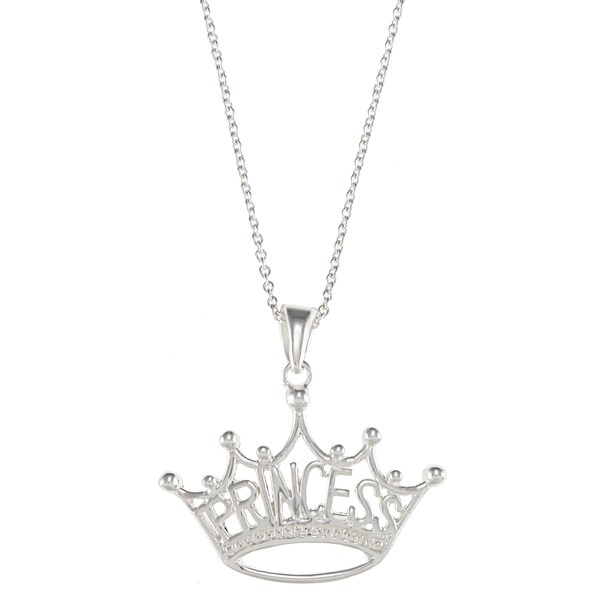 Disney Sterling Silver Princess Crown Pendant