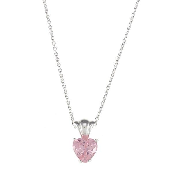 Disney Sterling Silver Pink cz
