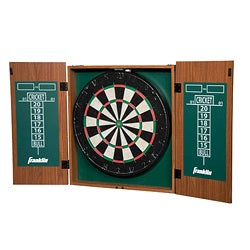 Franklin Bristle Dartboard with Cabinet