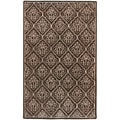 Candice Olson Hand-tufted Rocksprings Brown Geometric Wool Rug (2' x 3')