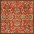 Hand-tufted Roxton Red Wool Rug (4&#39; Round)