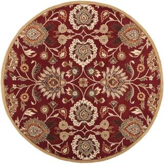 Hand-tufted Runaway Red Wool Rug (9'9 Round)