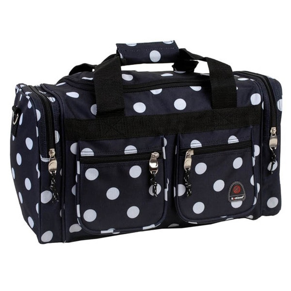 Rockland Bel-Air Black Dot 19-inch Carry-on Duffel Bag