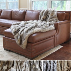 Aurora Home Wild Mannered Luxury Long Hair Faux Fur Lap Throw
