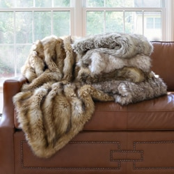 Wild Mannered Luxury Long Hair Faux Fur 60-inch Lap Throw Blanket